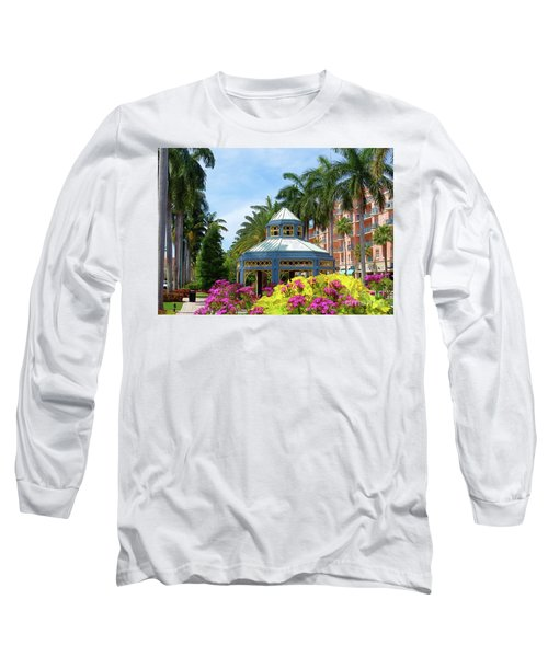 Beautiful Mizner Park In Boca Raton, Florida. #4 Long Sleeve T-Shirt
