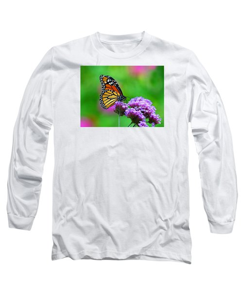 Beautiful Monarch Long Sleeve T-Shirt by Rodney Campbell