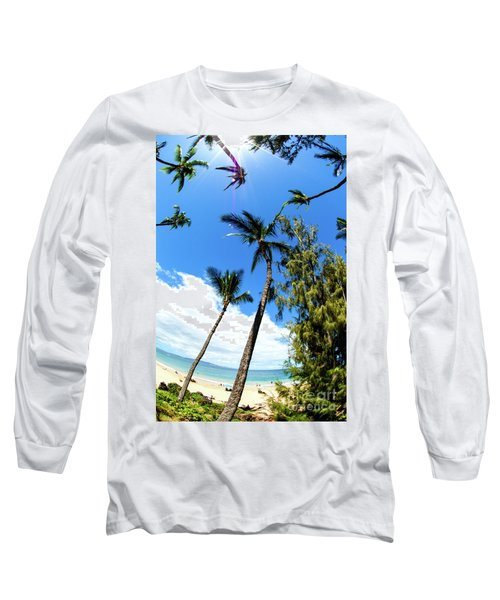 Long Sleeve T-Shirt featuring the photograph Beautiful Palms Of Maui 17 by Micah May
