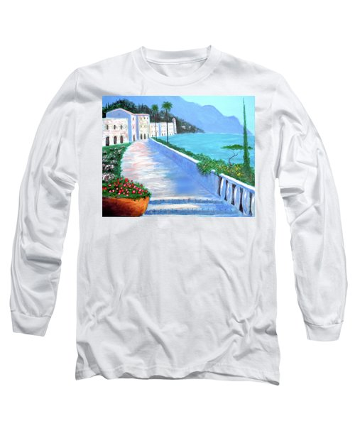 Long Sleeve T-Shirt featuring the painting Beauty Of The Riviera by Larry Cirigliano