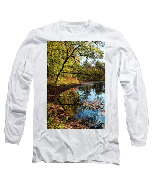 Beaver's Pond Long Sleeve T-Shirt by Iris Greenwell