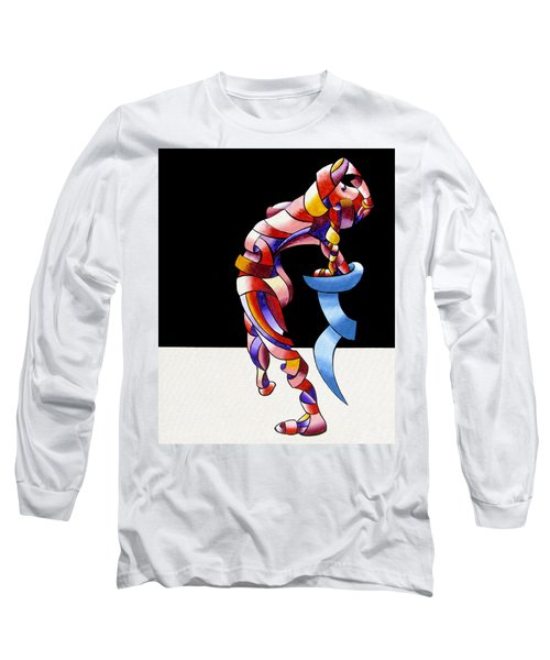 Long Sleeve T-Shirt featuring the painting Becca 208-08 by Mark Webster