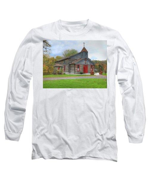 Bedford Village Church Long Sleeve T-Shirt by Sharon Batdorf
