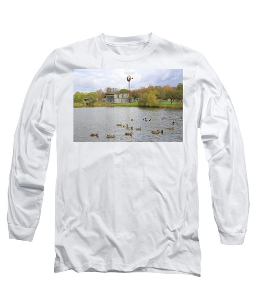 Long Sleeve T-Shirt featuring the digital art Bedford Village by Sharon Batdorf