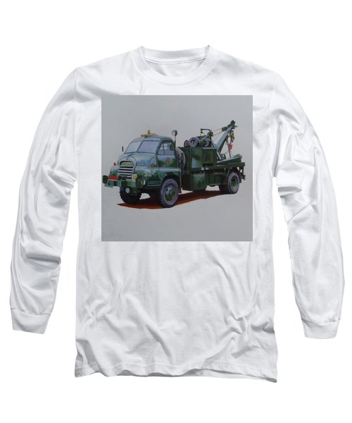 Long Sleeve T-Shirt featuring the painting Bedford Wrecker Afs by Mike Jeffries