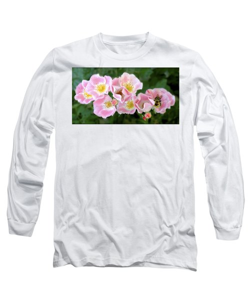 Bee And Roses Long Sleeve T-Shirt