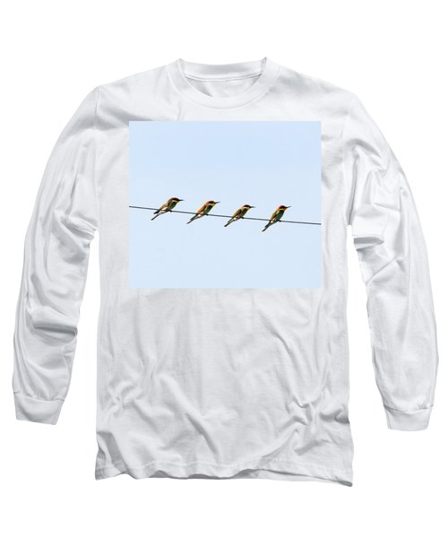 Bee Eaters On A Witre  Long Sleeve T-Shirt