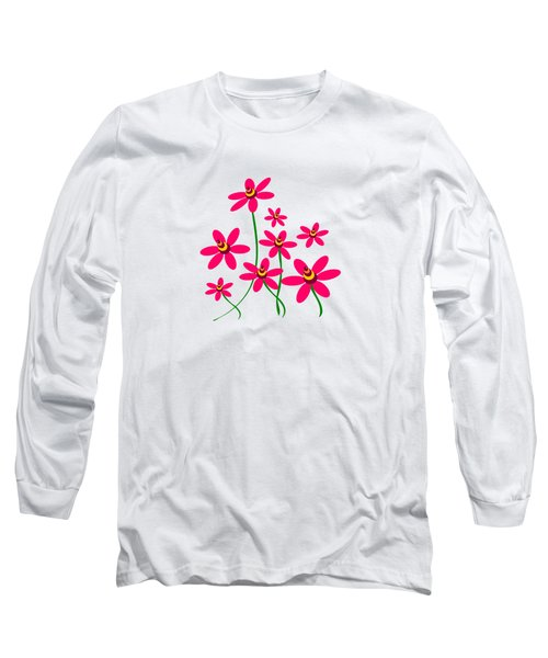 Bee Flowers Long Sleeve T-Shirt