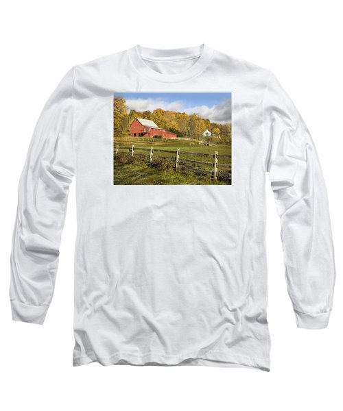 Long Sleeve T-Shirt featuring the photograph Bee Hive Farm, West Windsor, Vt by Betty Denise