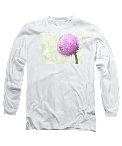 Bee On Giant Thistle Long Sleeve T-Shirt