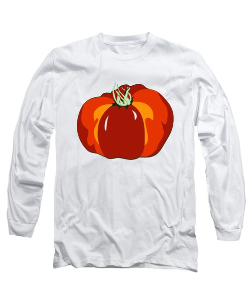 Beefsteak Tomato Long Sleeve T-Shirt by MM Anderson