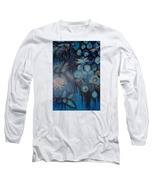 Long Sleeve T-Shirt featuring the digital art Beehive Blues by Diana Riukas
