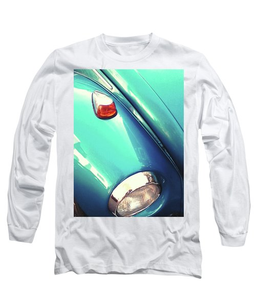Long Sleeve T-Shirt featuring the photograph Beetle Blue by Rebecca Harman