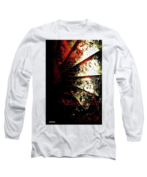 Before You Go Upstairs Long Sleeve T-Shirt by Danica Radman