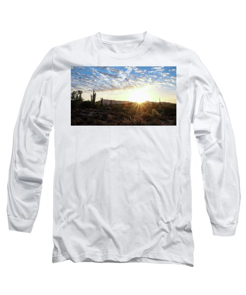Beginning A New Day Long Sleeve T-Shirt by Monte Stevens