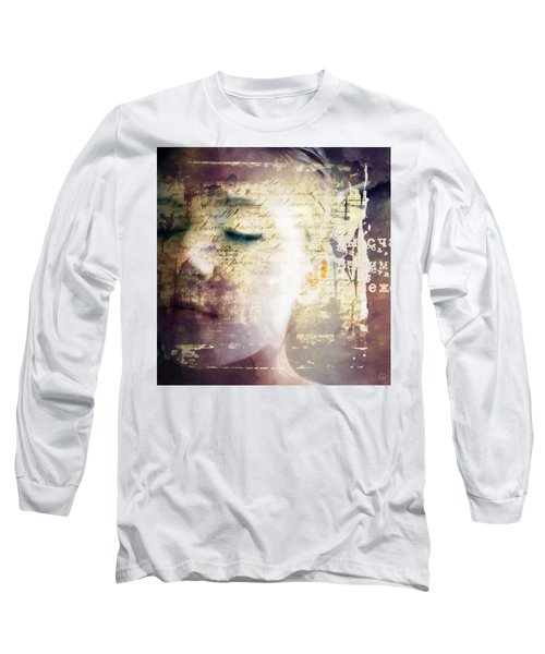 Long Sleeve T-Shirt featuring the digital art Behind The Words by Gun Legler
