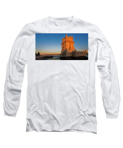 Belem Tower And The Moon Long Sleeve T-Shirt