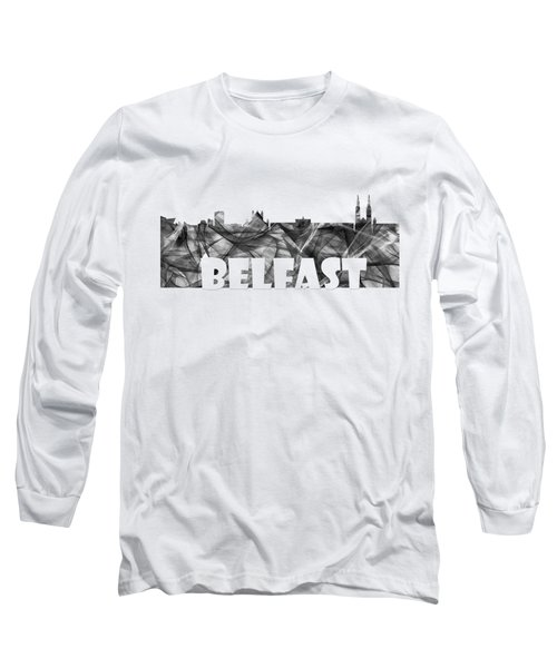 Belfast Ireland Skyline Long Sleeve T-Shirt
