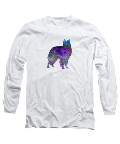 Belgian Shepherd Dog In Watercolor Long Sleeve T-Shirt