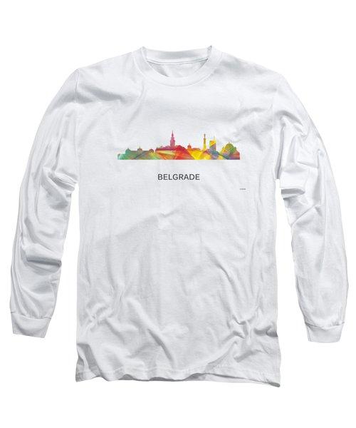 Belgrade Serbia Skyline Long Sleeve T-Shirt