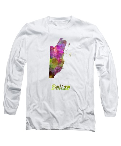 Belize In Watercolor Long Sleeve T-Shirt