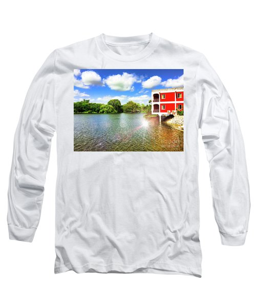Belize River House Reflection Long Sleeve T-Shirt