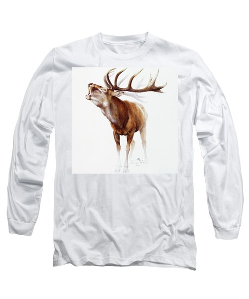 Belling Stag Watercolor Long Sleeve T-Shirt