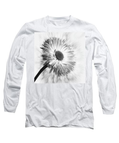 Bellis In Mono  #flower #flowers Long Sleeve T-Shirt