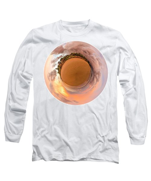Long Sleeve T-Shirt featuring the photograph Belongil Sunset In Byron Bay by Chris Cousins