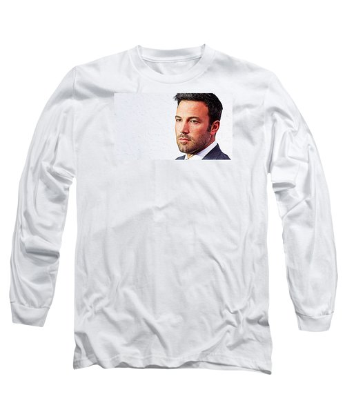 Ben Affleck Long Sleeve T-Shirt by Iguanna Espinosa