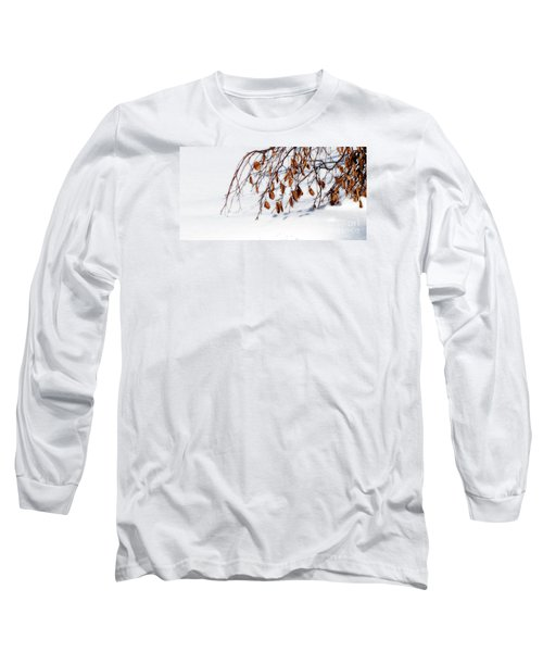 Bending With Silent Reach Long Sleeve T-Shirt by Linda Shafer