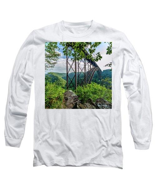 Beneath New River Gorge Bridge Long Sleeve T-Shirt