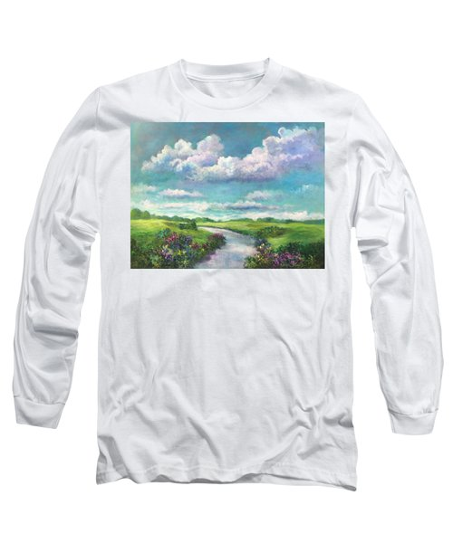 Beneath The Clouds Of Paradise Long Sleeve T-Shirt by Randy Burns