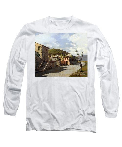 Provincia Di Benevento-italy Small Town The Road Home Long Sleeve T-Shirt