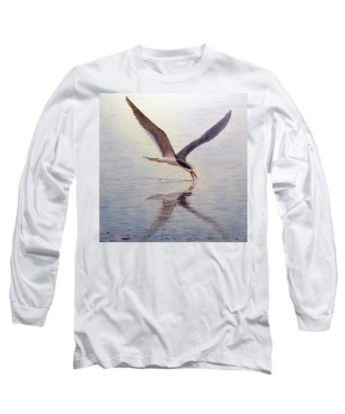 Long Sleeve T-Shirt featuring the painting Black Skimmer by Joe Bergholm
