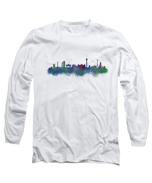 Berlin City Skyline Hq 2 Long Sleeve T-Shirt by HQ Photo