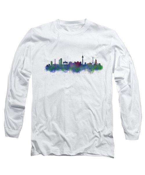 Berlin City Skyline Hq 2 Long Sleeve T-Shirt
