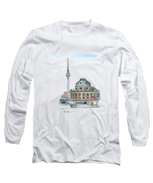 Berlin Fernsehturm Long Sleeve T-Shirt by Petra Stephens