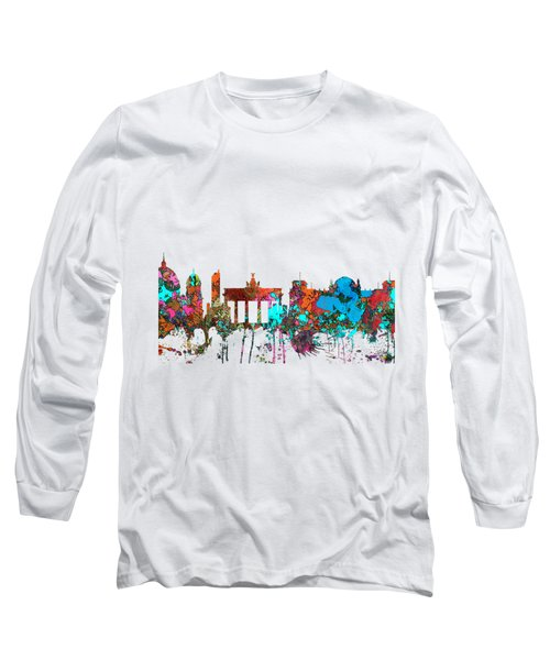 Berlin Germany Skyline  Long Sleeve T-Shirt by Marlene Watson