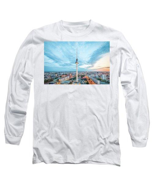 Berlin Twilight Panorama Long Sleeve T-Shirt