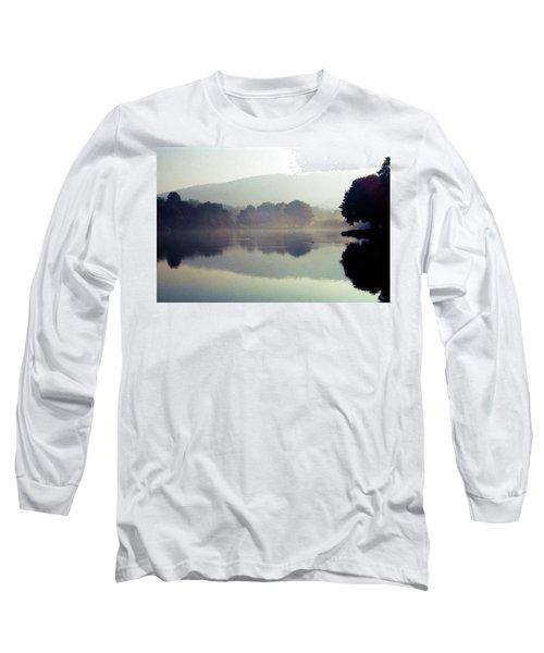 Bernharts Dam Fog 020 Long Sleeve T-Shirt by Scott McAllister