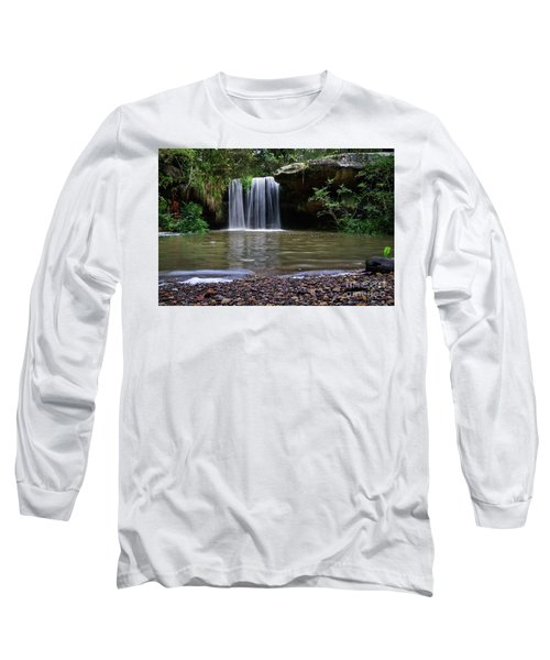 Long Sleeve T-Shirt featuring the photograph Berowra Waterfall by Werner Padarin