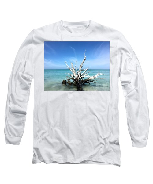 Beside Still Waters Long Sleeve T-Shirt by Margie Amberge