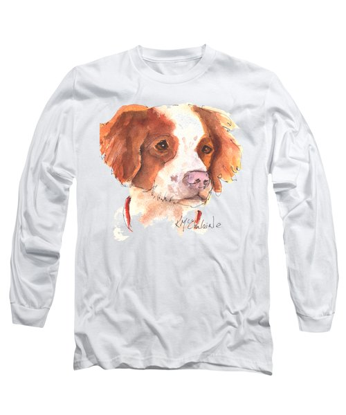 Best Dog By Kathleen Mcelwaine Long Sleeve T-Shirt by Kathleen McElwaine