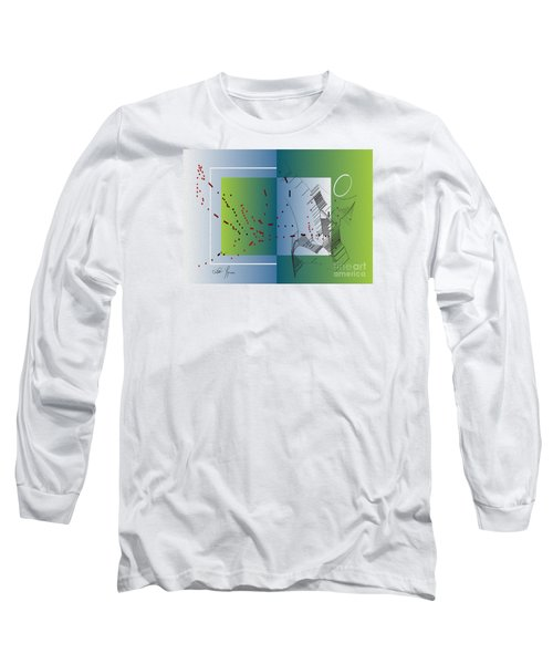 Long Sleeve T-Shirt featuring the digital art Between Heaven And Me by Leo Symon