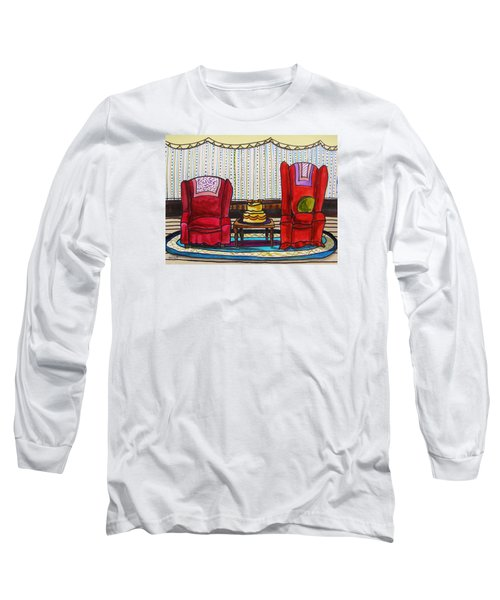 Between Two Reds Long Sleeve T-Shirt by John Williams