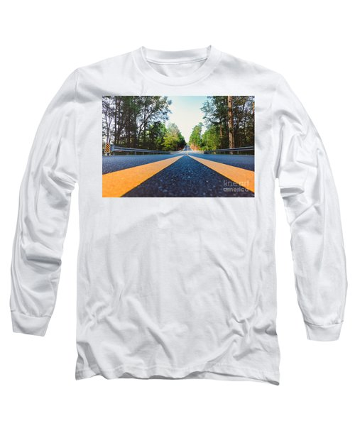 Between Yellow Lines Long Sleeve T-Shirt