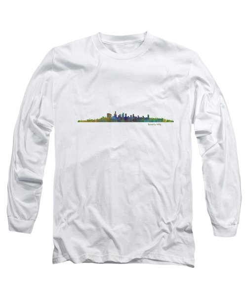 Beverly Hills City In La City Skyline Hq V1 Long Sleeve T-Shirt by HQ Photo