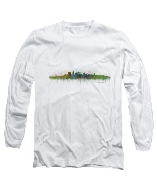Beverly Hills City In La City Skyline Hq V3 Long Sleeve T-Shirt by HQ Photo