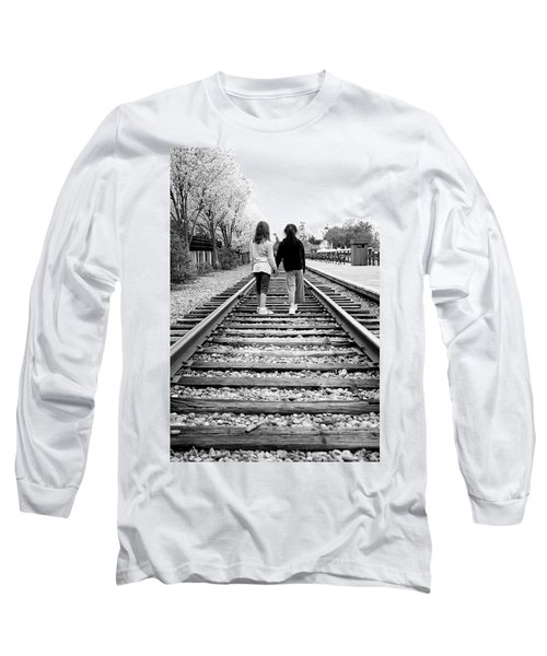 Long Sleeve T-Shirt featuring the photograph Bff's by Greg Fortier